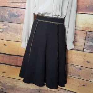 Wool blend charcoal skirt size 6